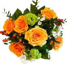 A bouquet of flowers is a wonderful gift to bring a host.