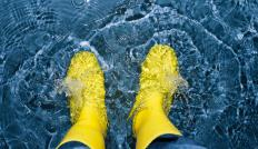 Galoshes are made from molded rubber.