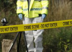 Forensic scientists may use field microscopes at a crime scene.
