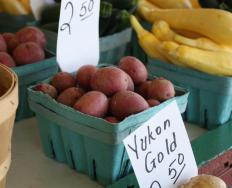 Yukon Gold potatoes, known for their buttery taste, are the most common yellow potatoes.