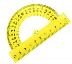 A basic protractor only measures angles up to 180 degrees.