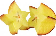 Lip balms are often available in tropical flavors like starfruit.