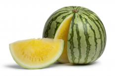 Yellow watermelon.