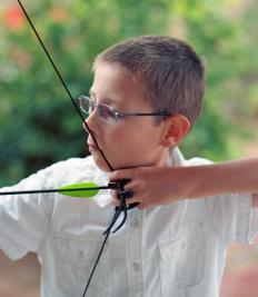 Most bows are designed so that the archer pulls the string.