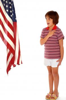 Patriotism in the U.S. is often cultivated in young children.