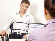 A polygraph test evaluates a person's physical responses to a series of questions.