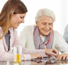 Dementia patients might benefit from doing jigsaw puzzles.