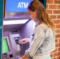 Personal ATM machines are often designed to look like a traditional bank machine.