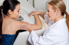 A mammogram may be performed to produce a clear image of the location, size, and shape of a breast hamartoma.