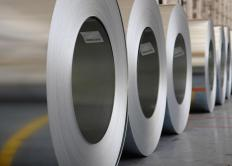 Zinc can coat surfaces like these plated rolls.