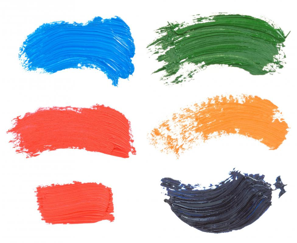 Curved Oil Paint Brush Strokes Isolated Stock Photo - Image: 48655291