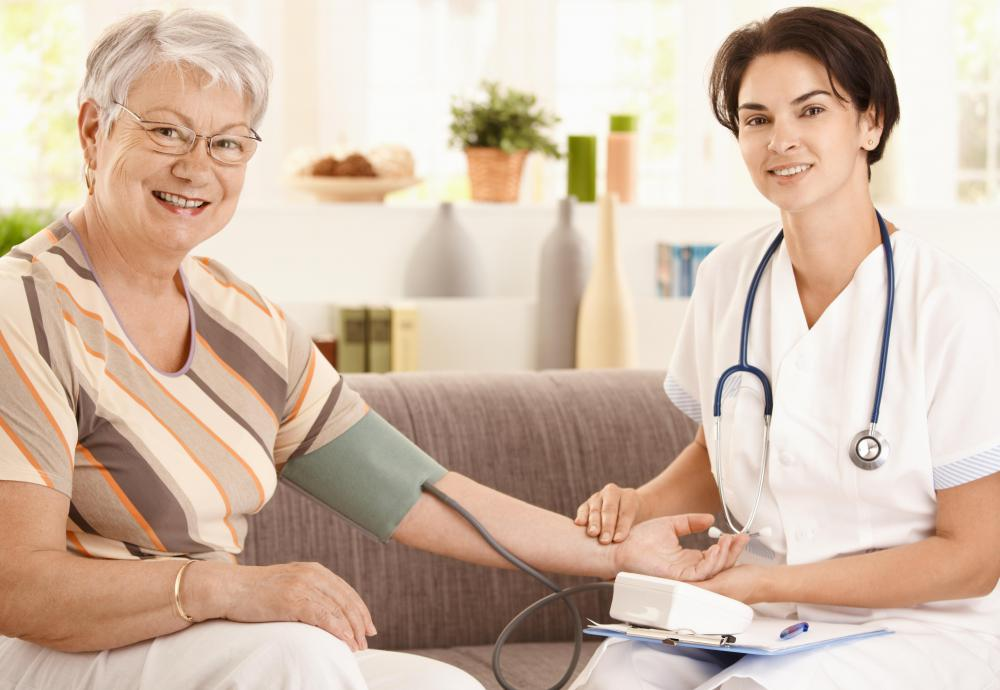 Home health aides help clients in the privacy of their own homes.