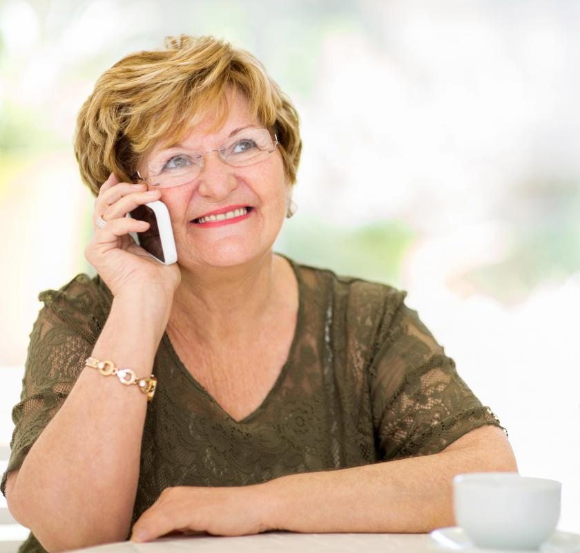 A phone with prepaid airtime might be ideal for seniors who don't want a contract.