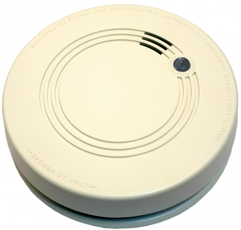 Smoke detectors alert people when there is a fire nearby.