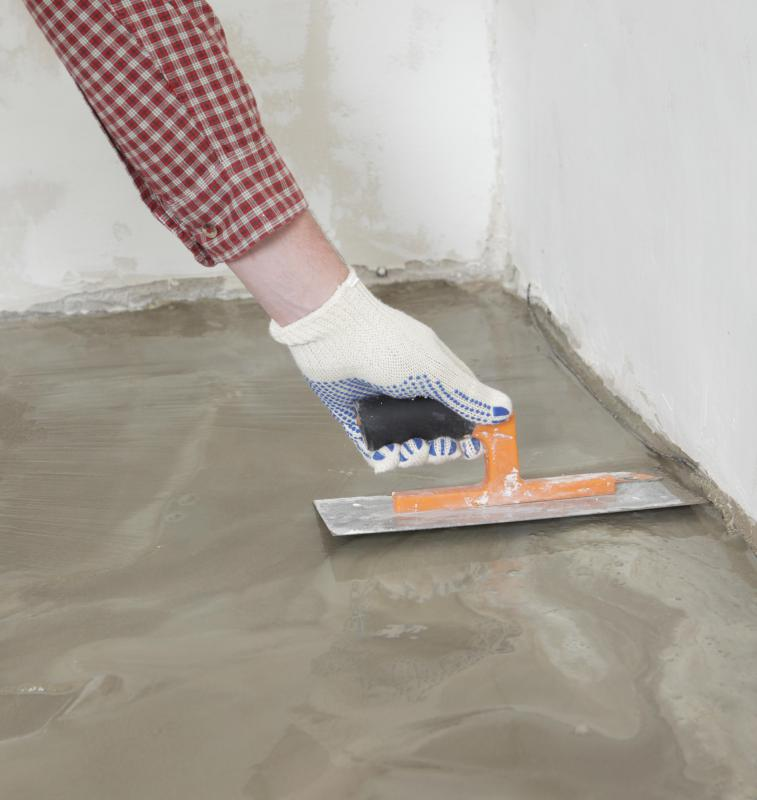 Concrete provides a stable base for flooring.