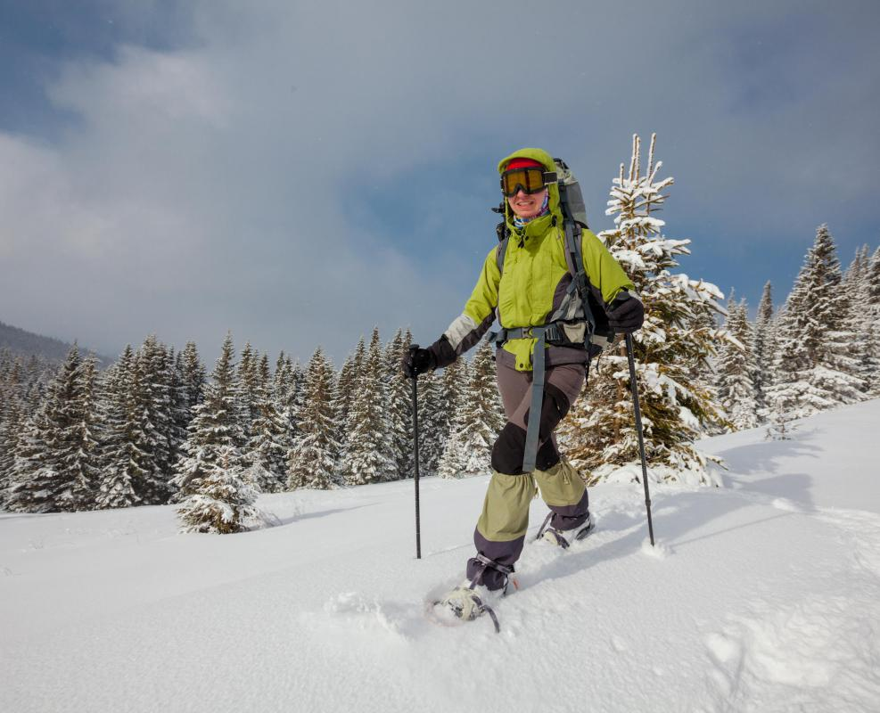 Some skiers make extended backcountry treks, stopping along the way at warming huts.