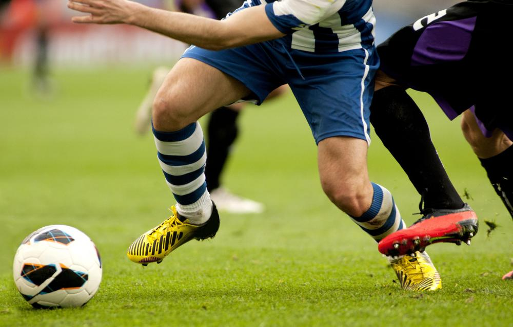 Some calf sleeves are designed specifically for soccer players.
