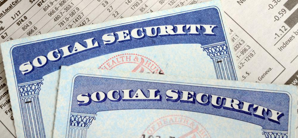 A social security card is needed when applying for a job.