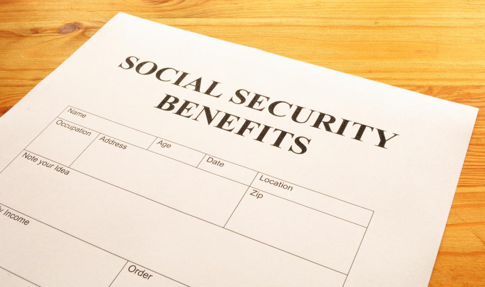 A Social Security benefits application.