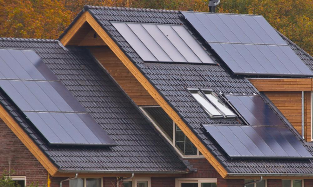 Solar panels for residential roofs can provide a home with electric power, helping it achieve a zero-energy status.