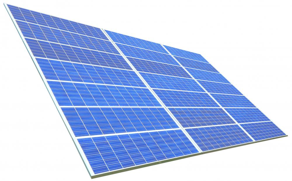 Solar panels transform the energy from the light of the Sun into electricity.