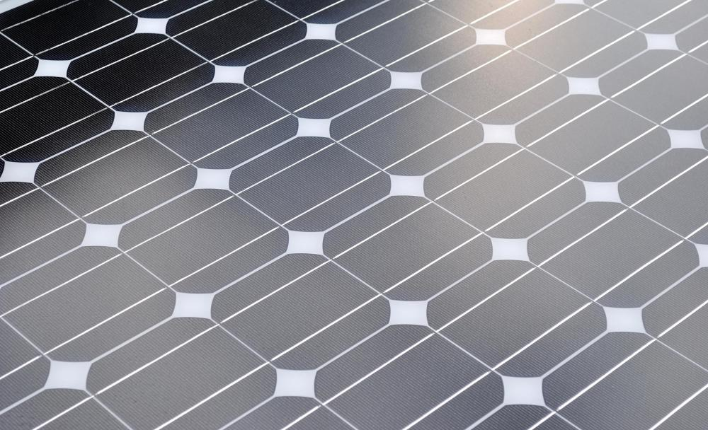 A closeup of a solar panel.