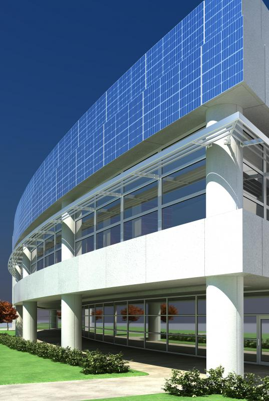A zero-energy building will likely feature solar panels.