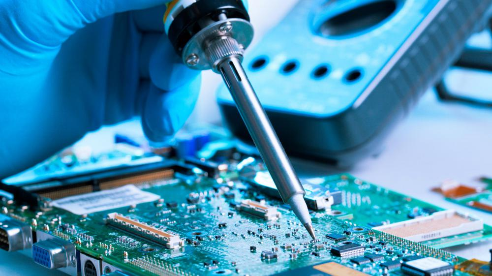 New products are developed during the R&D phase for electronics companies.