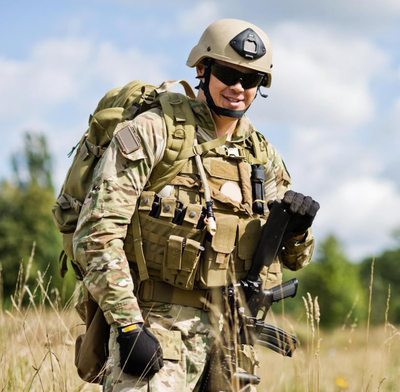 Military fatigues are the field uniforms worn by soldiers.