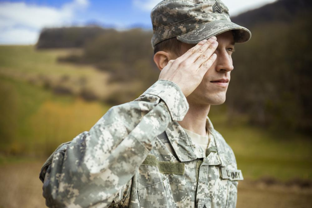 Camouflage uniforms are often worn in the armed services.