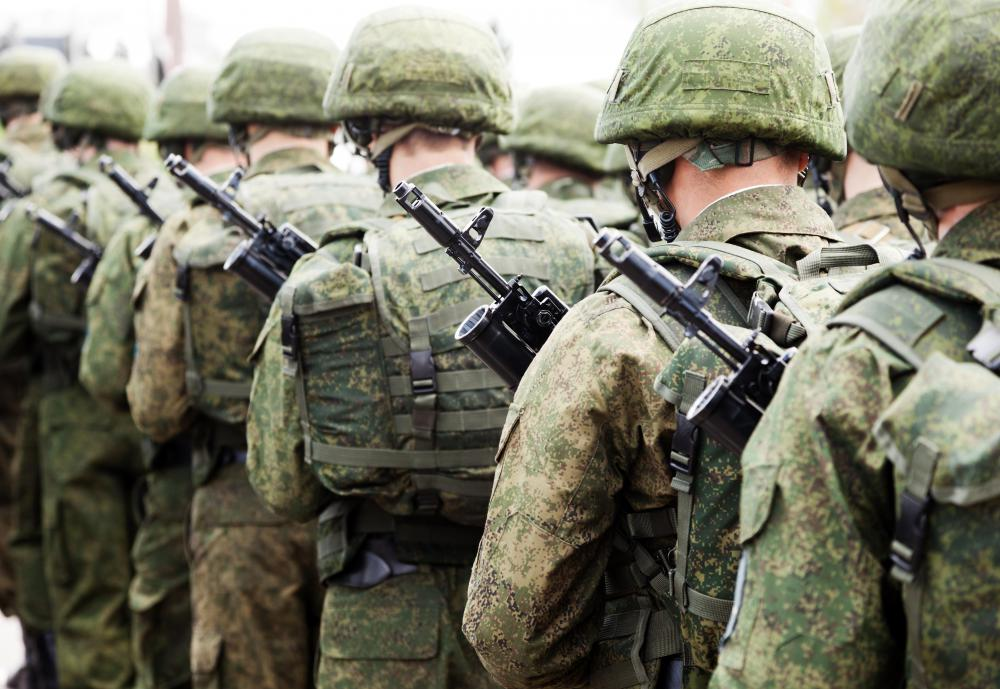 Combat uniforms vary in each branch of the military.