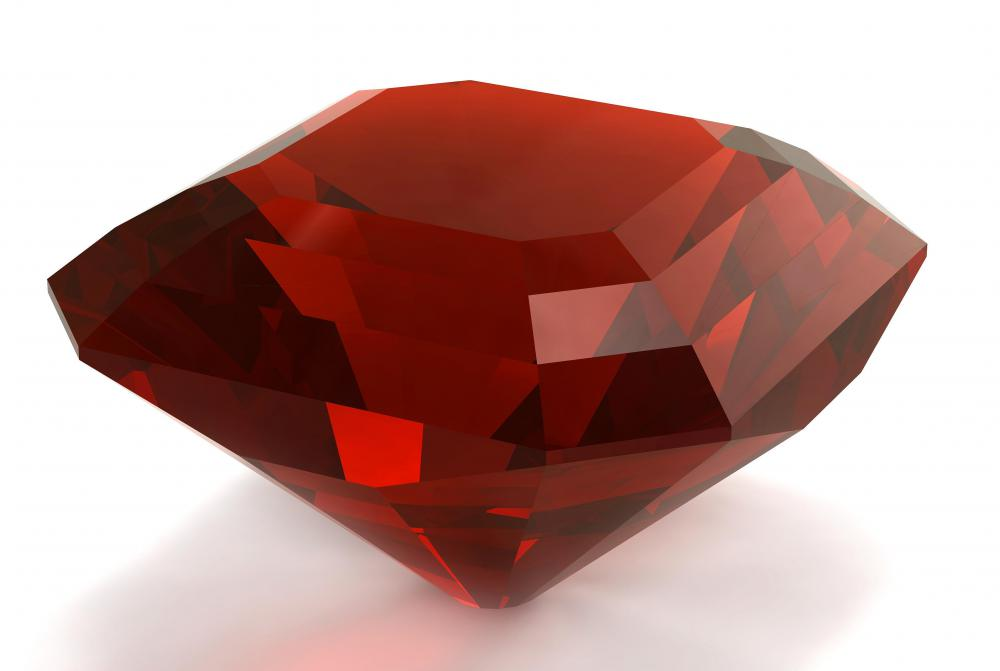 Loose rubies are used in extravagant pieces of jewelry.