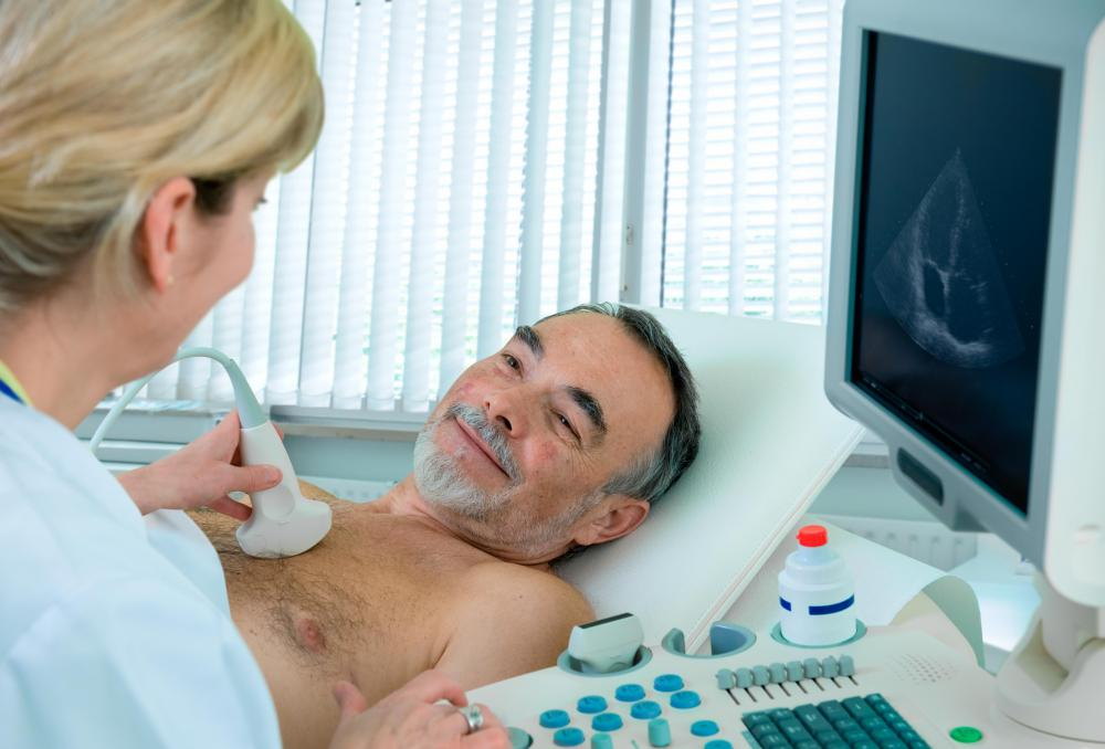 Vascular ultrasounds use sound waves to monitor the condition of a patient's internal organs.