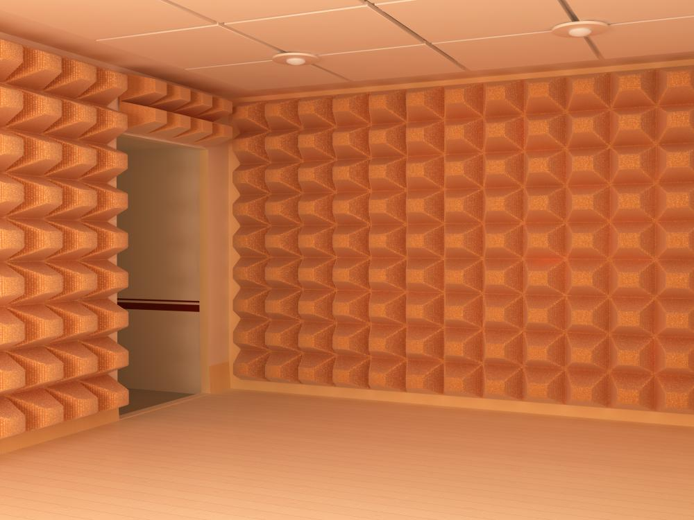 soundproof rooms are usually padded with surfaces that absorb