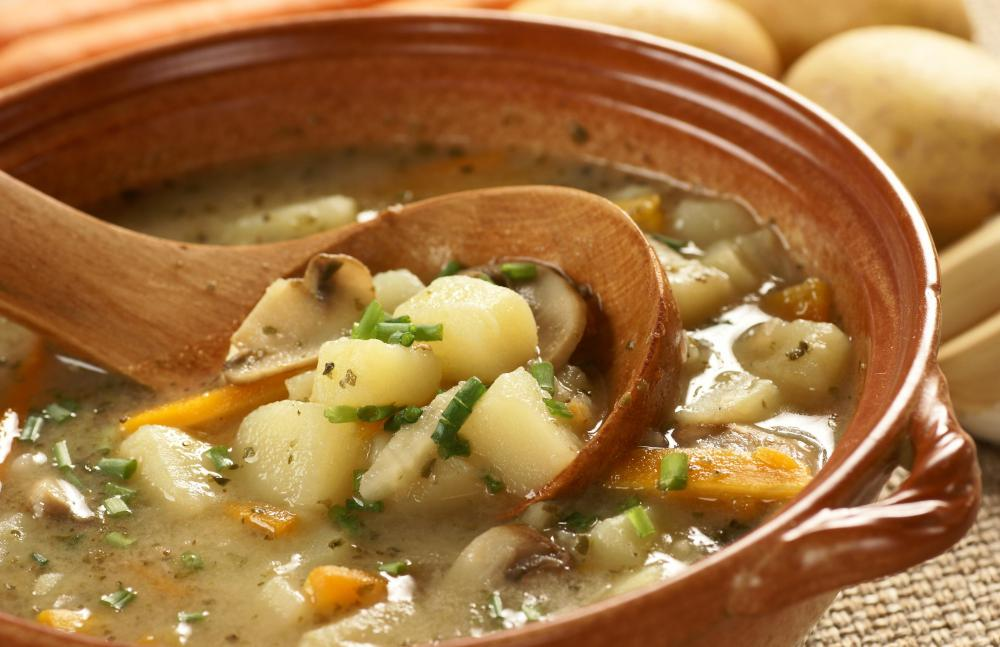A winter bean stew can be made with potatoes, carrots, and other hearty vegetables.