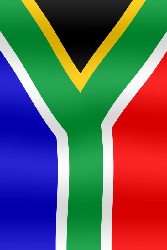 The flag of the Republic of South Africa, adopted in 1994.