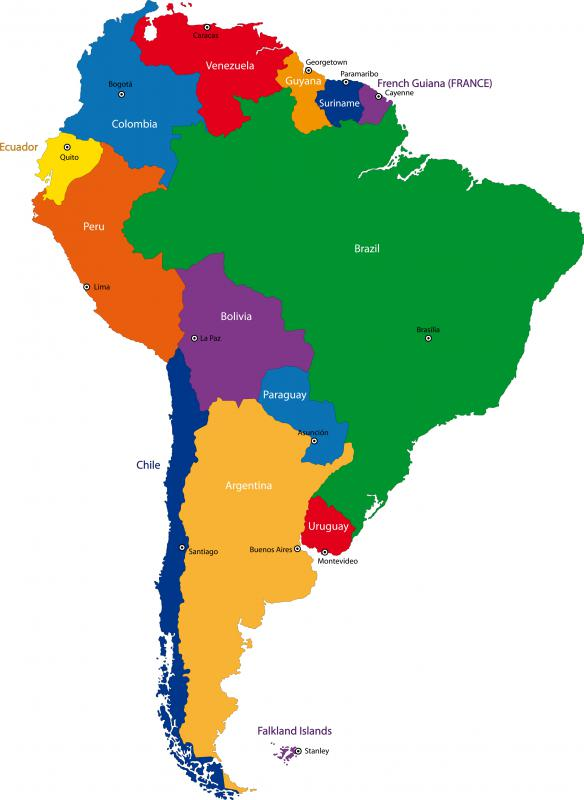 South America has just two landlocked countries, Paraguay and Bolivia.