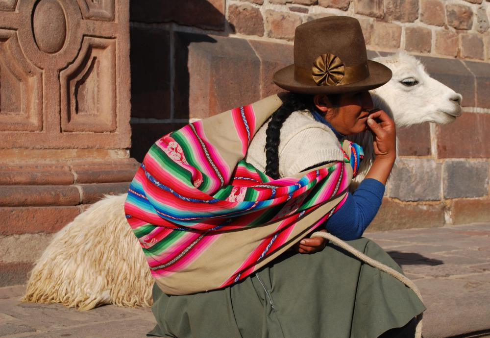 The language of the Incas, called Quechua, is still spoken by indigenous people living in the Andes.