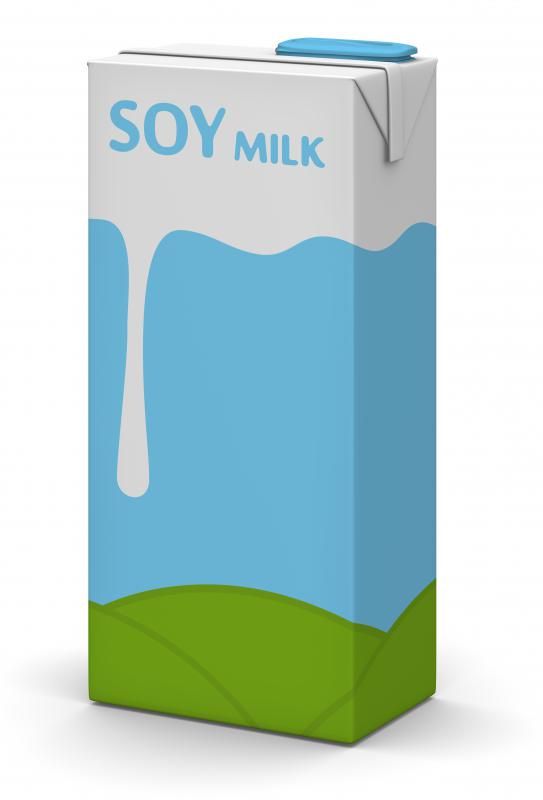 Soy milk contains no cholesterol and is very low in fat.