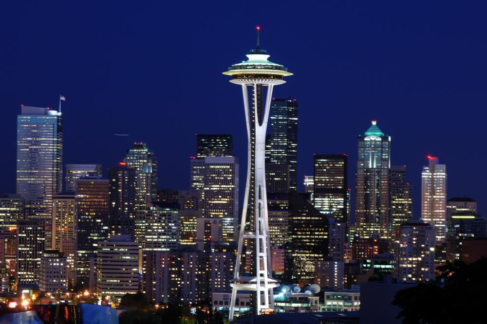 Seattle's Space Needle features a revolving restaurant.