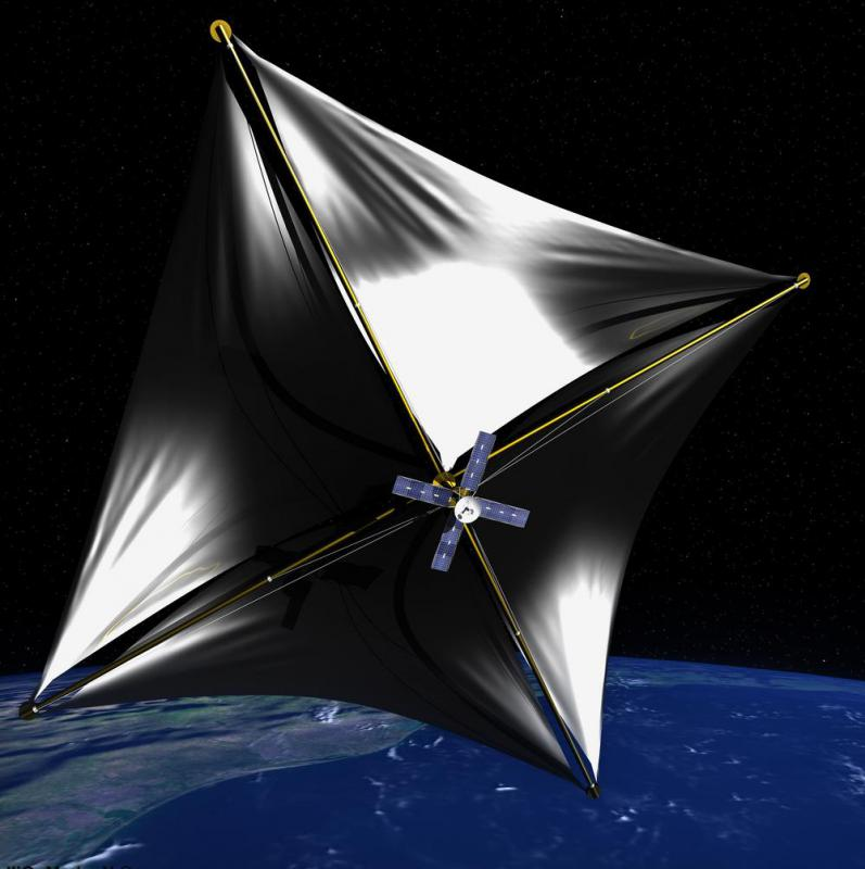 Though a spacecraft powered by solar sails would have low acceleration, it could reach hypervelocity because pressure from solar particles would allow it to accelerate for years.