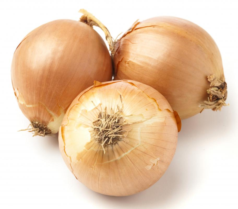 Onions, one of the main ingredients in French onion soup.