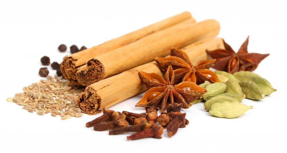 Spices used in chai tea can include cardamom, cloves, black pepper ...