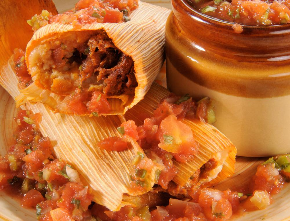 Authentic foods like tamales are easy to make in large batches.