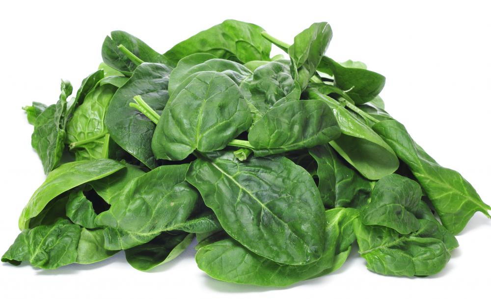 Spinach is a source of biotin.