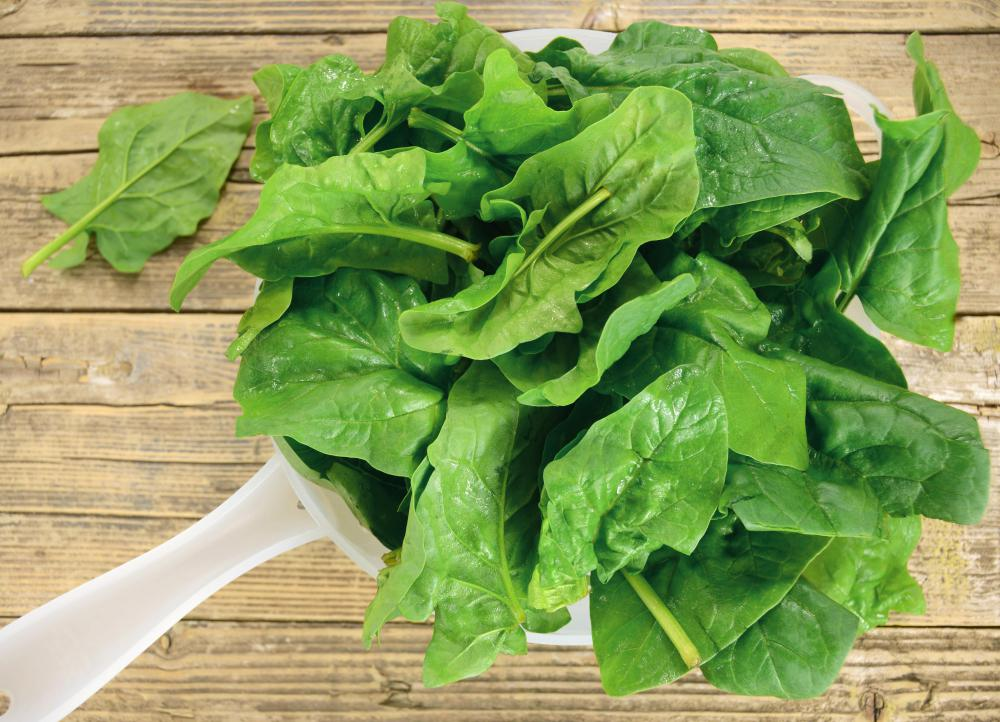 Spinach is packed with magnesium, an essential electrolyte that helps regulate the nervous system.