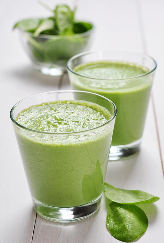 Spinach can be used to make healthy, green smoothies.