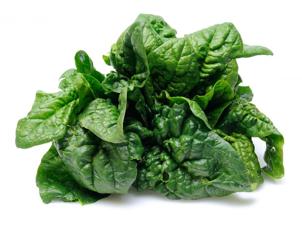 Spinach, which is often used to top pizzas.