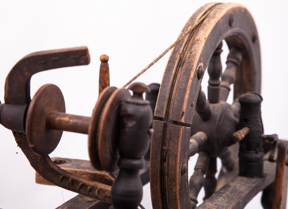 Wool, which has been used to make textiles since 8000 BCE, has traditionally been spun on wheels.