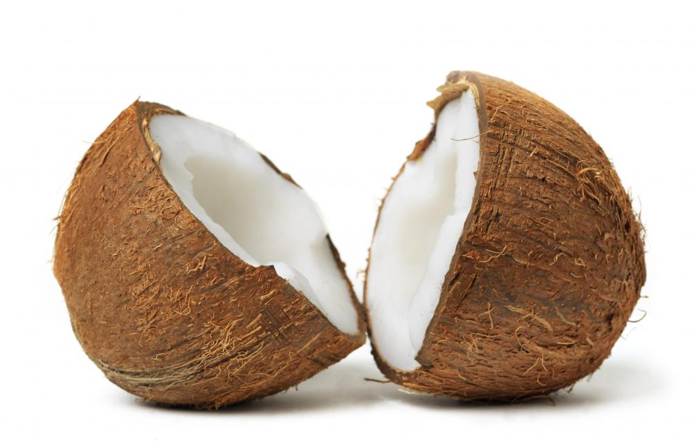 The base of bath oil can be made from coconut.